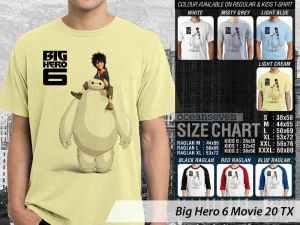 Kaos Big Hero 6 Hiro Hamada, Kaos Animasi Big Hero 6 Wasabi, Kaos Big Hero 6 Baymax, Kaos Big Hero 6 Robotics