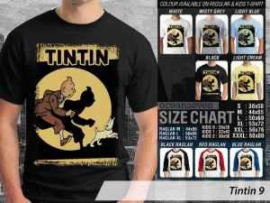 Kaos Comic Tintin Adventures, Kaos Film Tintin Terbaru, Kaos Film Tintin in America, Kaos Tintin Thomson and Thompson