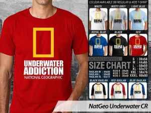 Kaos Natgeo Terbaru Scuba Divers, Kaos Scuba Divers, Kaos Desain Scuba Diving, Kaos Sherwood Scuba