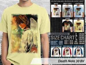 Kaos Death Note Japan Comic Light Yagami, Kaos Anime Death Note Terbaru, Kaos Anime Death Note Anak-anak, Kaos Anime Death Note for Kids