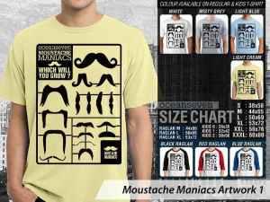 Kaos Moustache Artwork, Kaos Couple Moustache, Kaos Keep Calm Moustache, Kaos Moustache Original