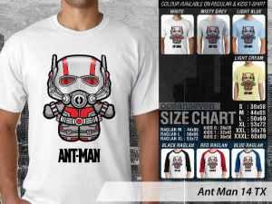 Kaos Ant-Man Couple Family, Kaos Ant-Man American Superhero, Kaos Ant-Man Marvel Comic, Kaos Marvel Comic