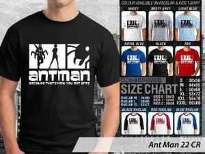 Kaos Ant-Man Scott Lang, Kaos Film Ant-Man Marvel Heroes, Kaos Ant-Man Couple Family, Kaos Ant-Man Ukuran Anak, Kaos Film Ant-Man Size Kids
