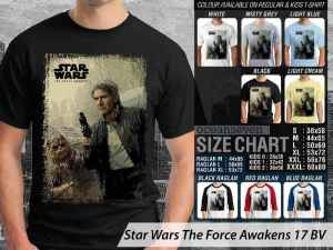 Kaos Film Star Wars The Force Awakens, Kaos The Force Awakens Terbaru, Kaos Star Wars Han Solo, Kaos Film Star Wars Luke Skywalker, Kaos Star Wars Jedi Finn