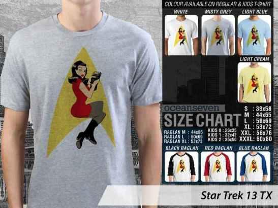 Kaos Film Star Trek Into The Darkness, Kaos Film Star Trek Classic, Kaos Star Trek Logo, Kaos Star Trek Captain Pike, Kaos Star Trek Spock